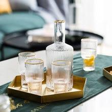Nordic Phnom Penh Vertical Stripes Transparent Glass Fruit Juice Water Cup Milk Jug Water Bottle Glass Wine Cup Household Kettle