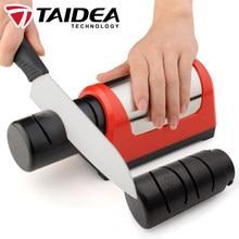 TAIDEA Sharpening stone Professional Electric Knife Sharpener 2 stage Diamond Ceramic kitchen Knife sharpener Machine TG1031