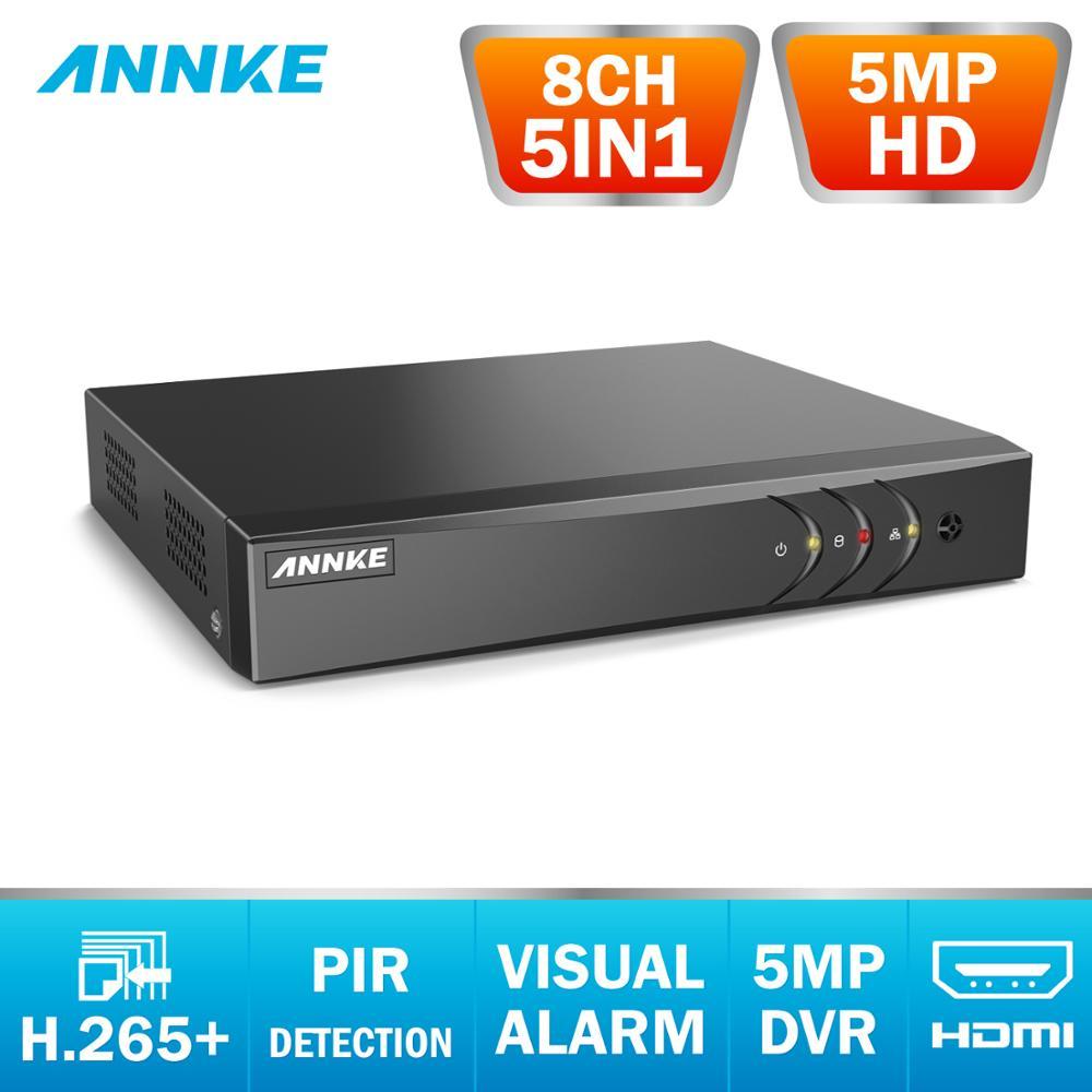 ANÃO H.265 + 5MP HD 8CH 5IN1 de Vigilância CCTV DVR Gravador de Vídeo Digital de Detecção de Movimento PIR Para 2MP 3MP 5MP Analógico Câmera IP