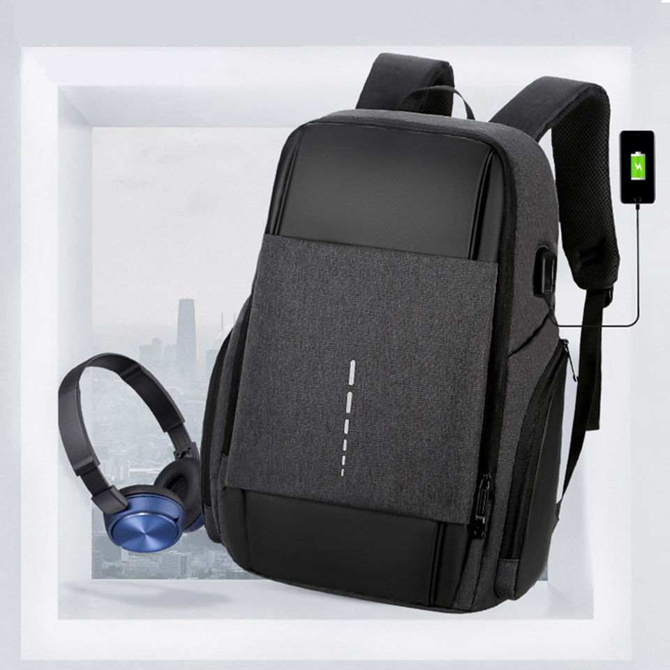 Men Backpack Business Back Packs Laptop 15.6 USB Charging Women Bagpack Notebook Waterproof Travel Male Bags Female School Bag