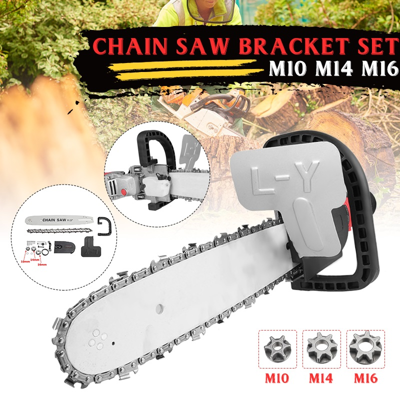 Electric Chain Saw Converter For 100/125/150 Angle Grinder Substation Chain Saw Automatic Refueling Electric Chain Saw