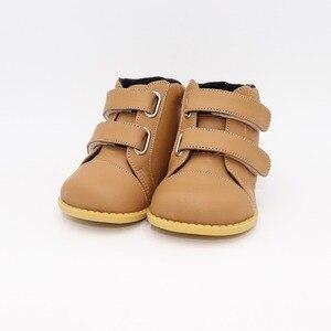 Image 4 - Tipsietoesブランド高品質の革のステッチキッズ子供ソフトブーツ学校の靴男の子2020秋冬雪のファッション