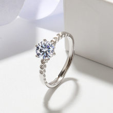 Women Rings 925 Sterling Silver Fashion Resizable Zircon Wedding Rings for Women Wedding Jewelry Accessories