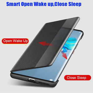 Image 2 - Official Original Smart View Call ID Leather flip Cover Case for HUAWEI Mate 40 Pro Plus Mate 30 Pro P40 Pro
