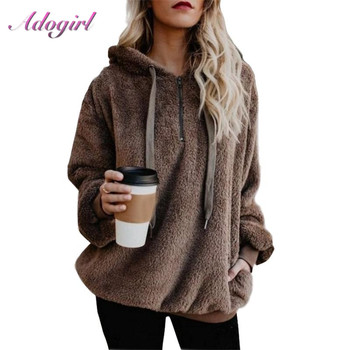 Casual Plus Size Solid Color Long Sleeve Hoodies Lady Autumn Outwear Tops Coat Loose Pullovers Streetwear Sweatshirt Thick Coat women solid color plush hooded sweatshirt autumn winter long sleeve loose warm hoodies coat pockets casual fashion outwear tops
