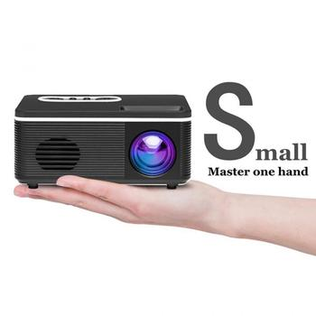 S361 New Real Mini HD Multimedia LCD LED Video Projector 480x320P Support 1080P Output HDMI USB TF Home Theater Smart Home