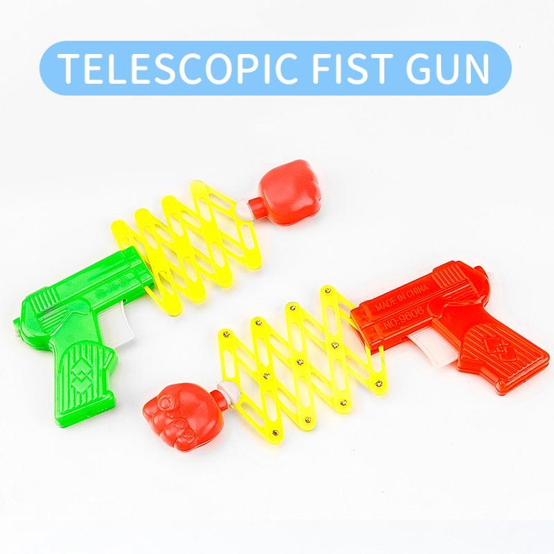 Creative Children's Spring Toy Gun Decompression Tidy Classic Nostalgic Magic Telescopic Fist Gun Gift