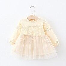 Платье для девочек; ; коллекция года; кружевное платье с цветочным принтом; модная детская одежда