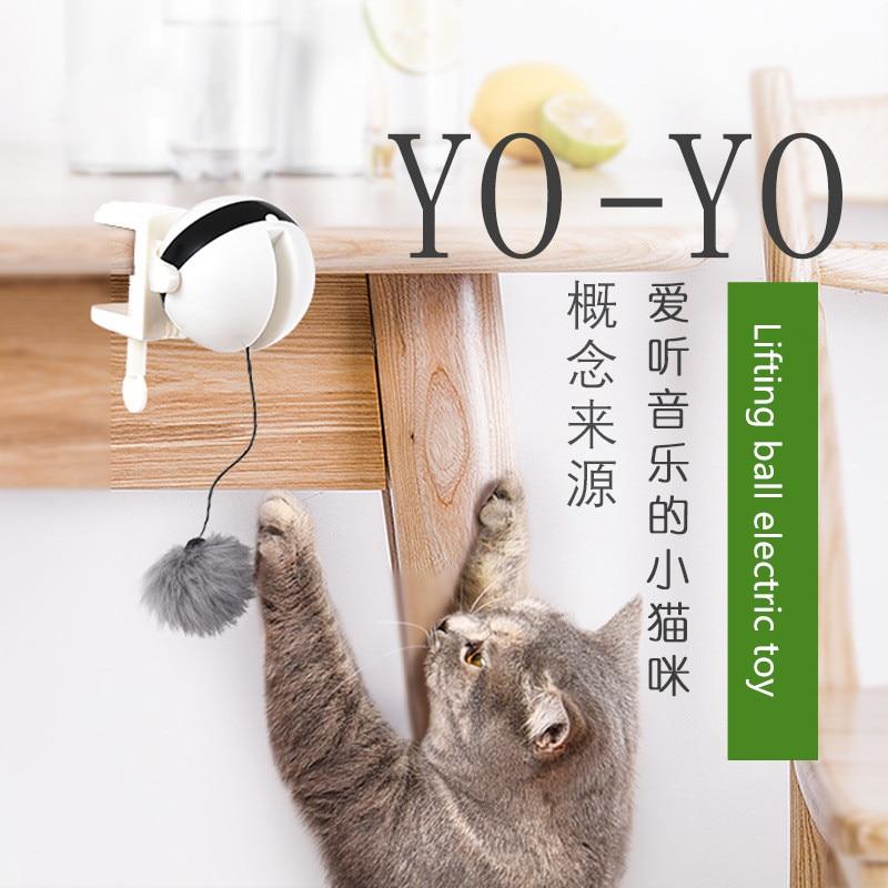Pet Toy Smart Rabbit Hair Ball Automatic Yo-Yo Lifting Electric Cat Toy Cat Supplies