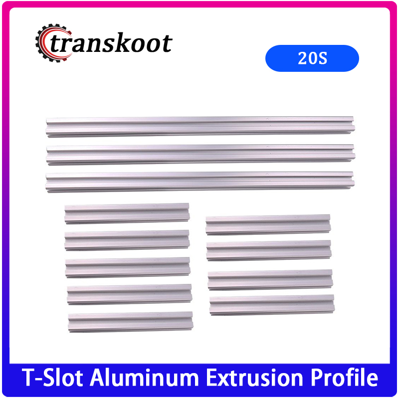 T-Slot Aluminum Extrusion <font><b>Profile</b></font> <font><b>2020</b></font> 3pcs x <font><b>1000mm</b></font> 9pcs x 395mm for 3D Printer Kossel Large Delta image