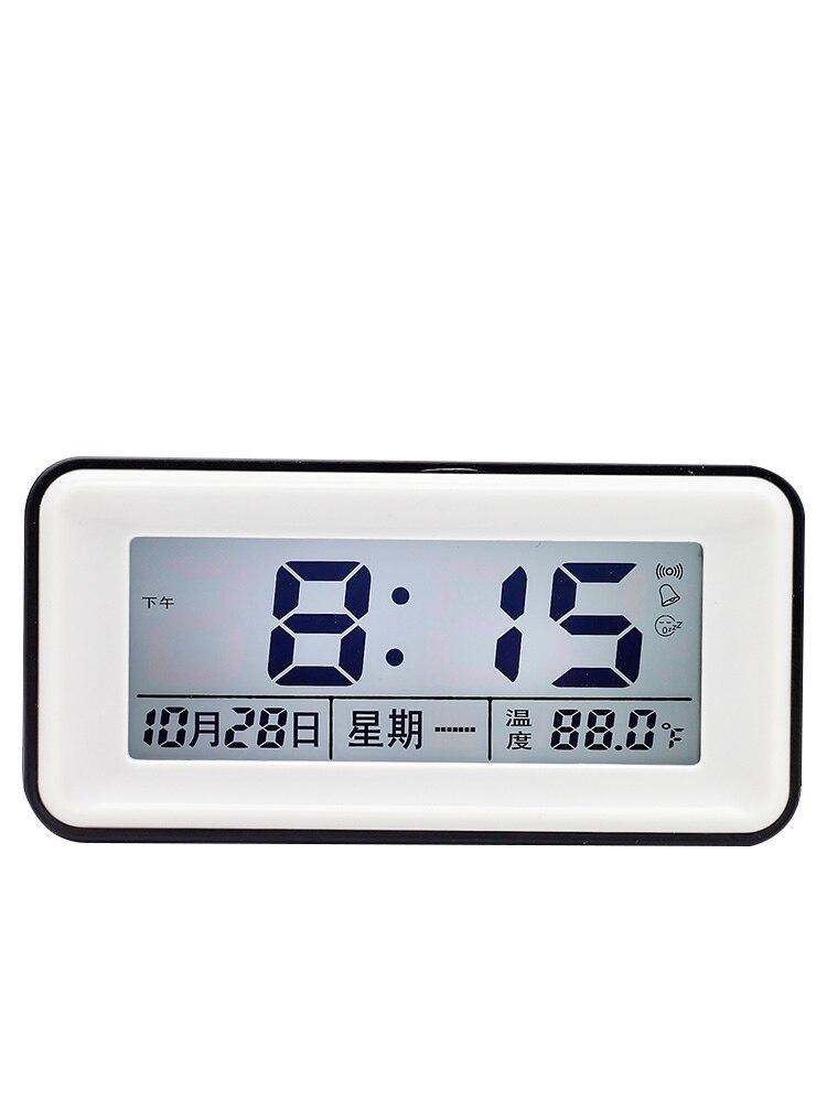 Led Small Alarm Clock Night Light Smart Calendar Silent Temperature Alarm Clock Digital Snooze Slim Zegary Thermometer Ae50ac Alarm Clocks Aliexpress