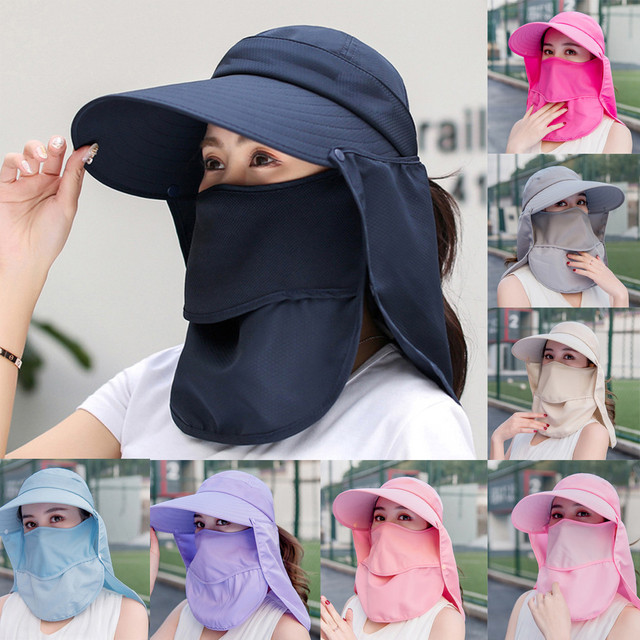 Summer Women Girl Anti Flu virus Hat Mask Sun Protective Breathable Anti-UV Double Layer маска для Headwear Cotton Cycling Cap 1