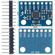 50 Uds GY 521 MPU 6050 MPU6050 módulo 3 ejes giroscopio analógico sensores + 3 eje módulo de acelerómetro C74