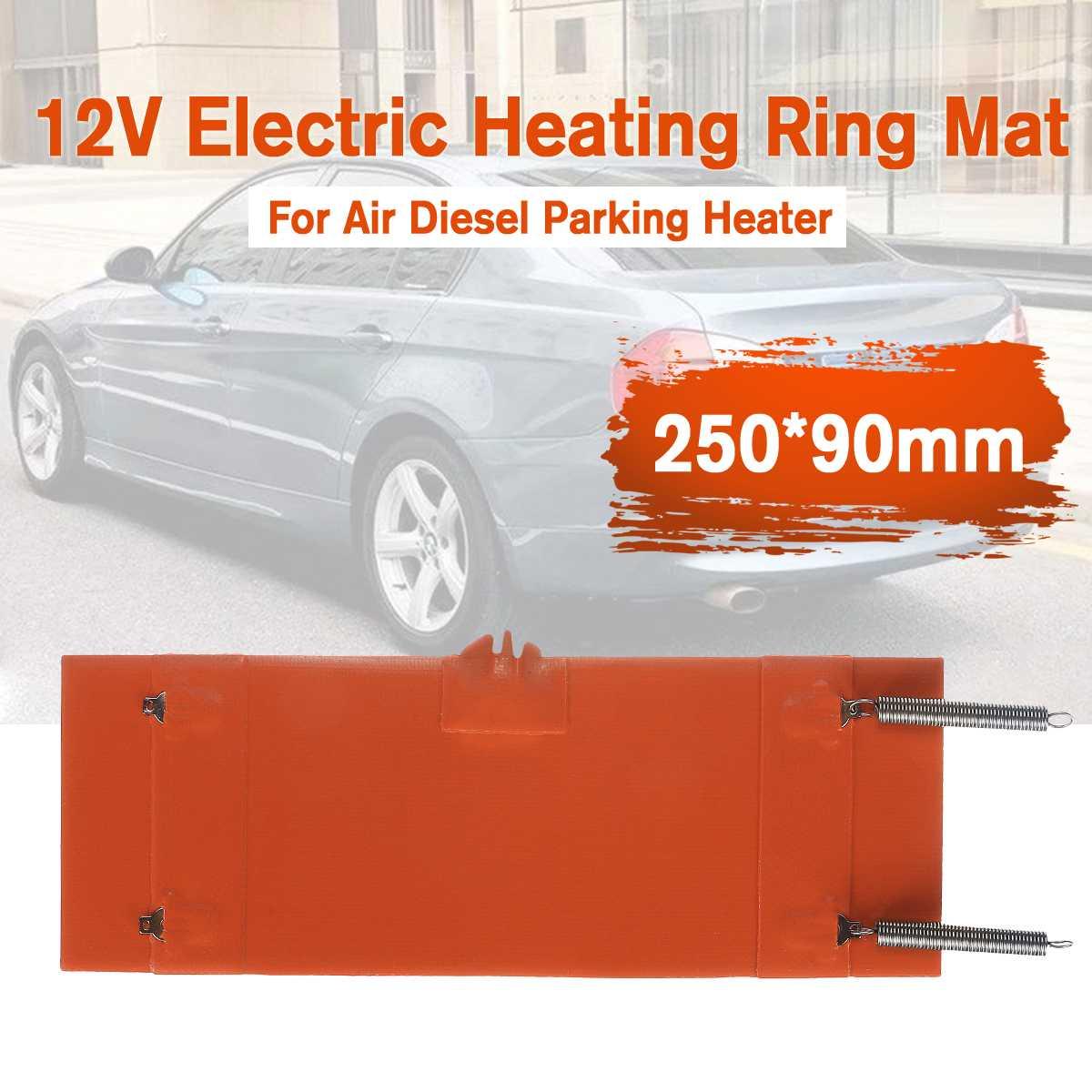 novo 12 v 250x90mm aquecedor de anel aquecimento eletrico esteira do carro filtro para ar diesel