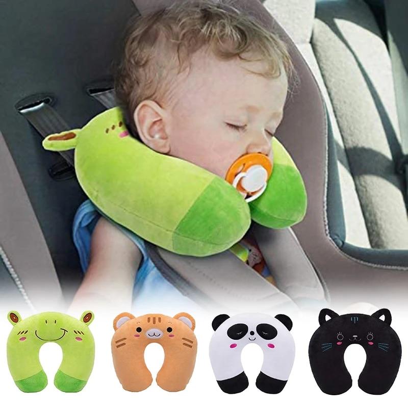 Cartoon Kids U-shaped Pillow Plush Neck Pillow Nap Pillow Lunch Break Pillow Cervical Pillow Travel Pillows for Children
