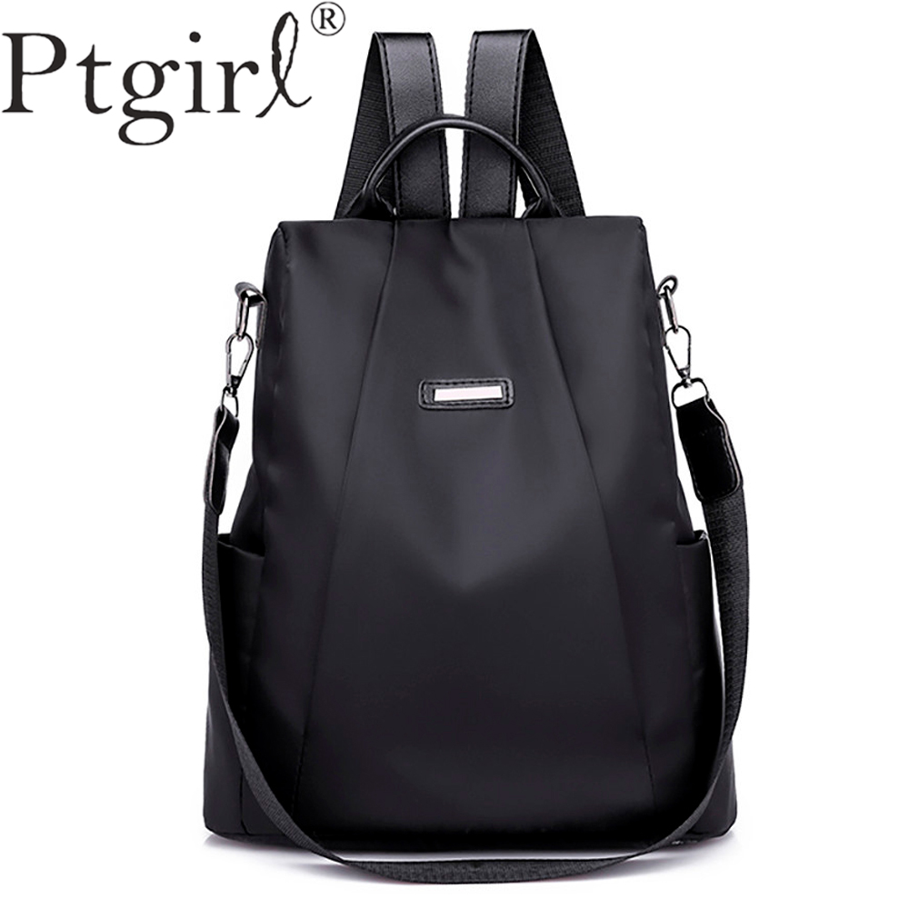 2019 Fashion Women Solid ZipperTravel Backpack Female Oxford Travel Bag Anti-theft Cloth Backpack Mochilas Escolares Para Adoles