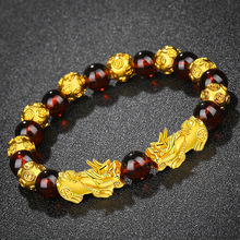 Couple Gift Bracelet Vietnam Pixiu Red-Stone Fengshui Lucky-Wealth Jewelry Bead Charms