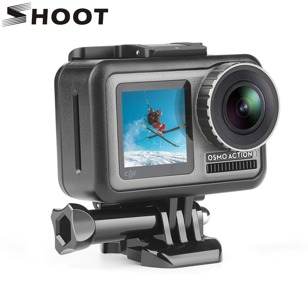 SHOOT Protective Frame Case Border Cage for DJI Osmo Action Camera Cover Housing Shell with Adapter for DJI Camera Accessories