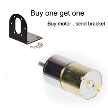 Small DC Gear Motor DC 12V 24V Gear Motor 37GB330 Diameter 37mm 5-1000rpm for RC Smart Car Part Use for 330 DIY Linear Actuator