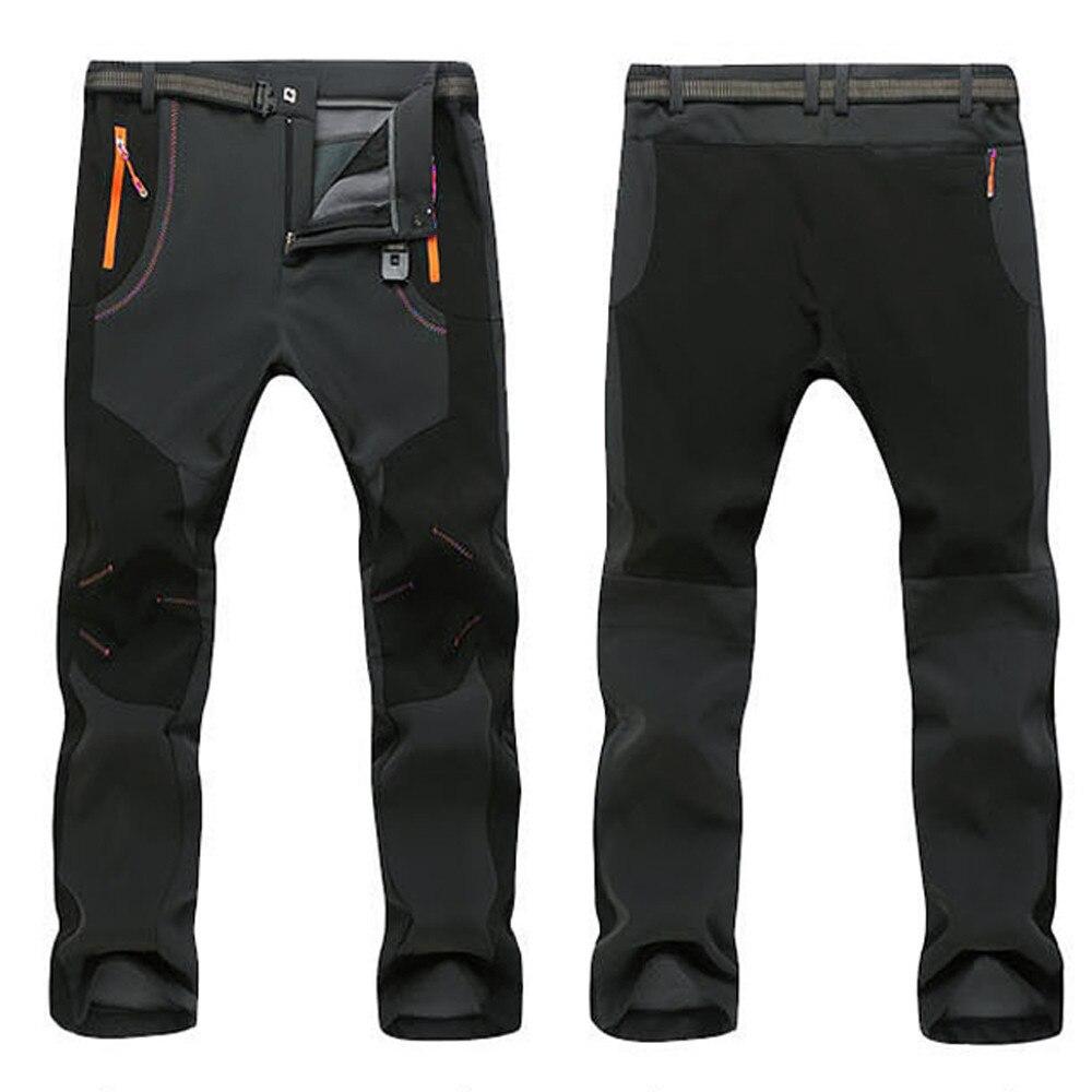 Мужские лыжные брюки полной длины водонепроницаемые ветрозащитные уличные походные теплые зимние плотные брюки повседневные брюки размер...