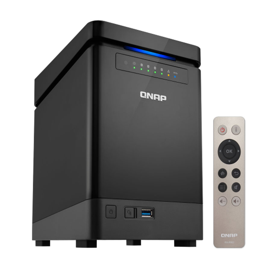 QNAP 4-Bay NAS TS-453Bmini Intel Celeron Apollo See J3455 Quad-core CPU, diskless 8GB RAM, SATA 6 Gb/s Lagerung Server