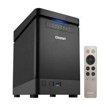 QNAP 4 Bay NAS TS 453Bmini Intel Celeron Apollo gölü J3455 dört çekirdekli işlemci, disksiz 8GB RAM, SATA 6 GB/sn depolama sunucusu