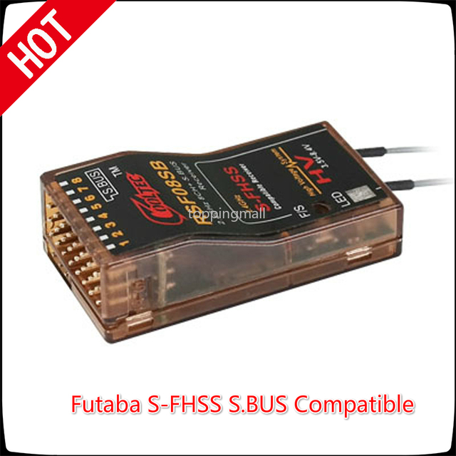 Cooltech RSF08SB 8ch Futaba S FHSS S.BUS Compatible Receiver for 10J 8J 6K 6J  14sg 18MZ WC 18SZ Frsky Delta 8 RC Model