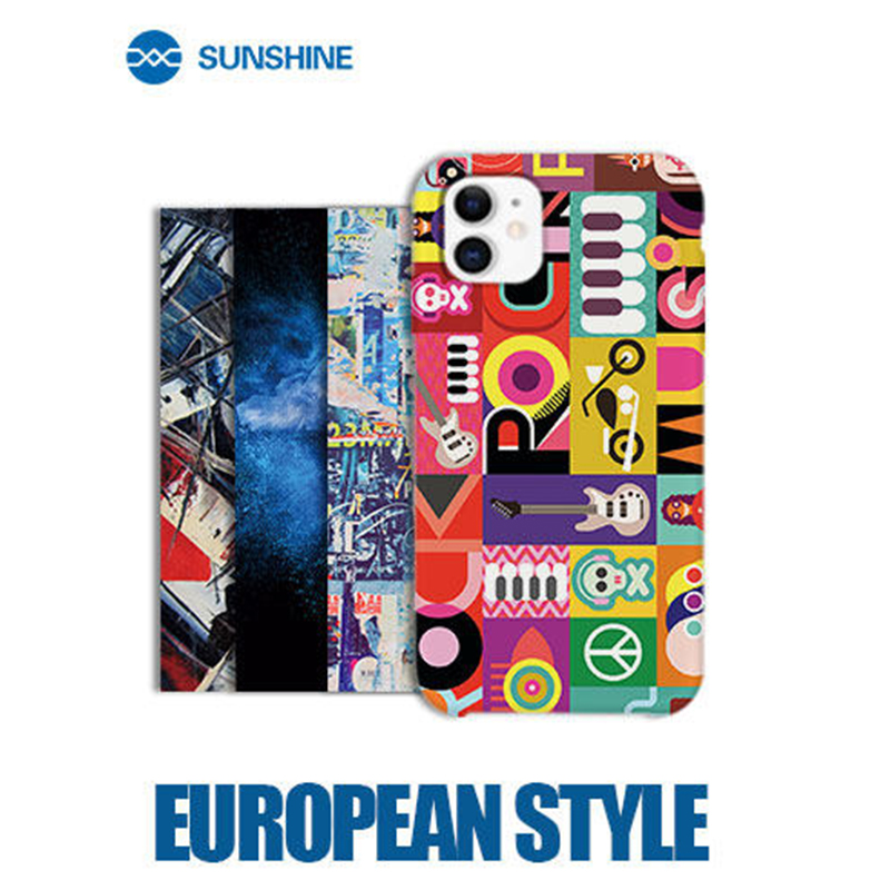 50pcs Lot European style SUNSHINE S300 E01-E20 Embossed Series Back Cover Protector Sticker For SUNSHINE SS-890C cutting machine