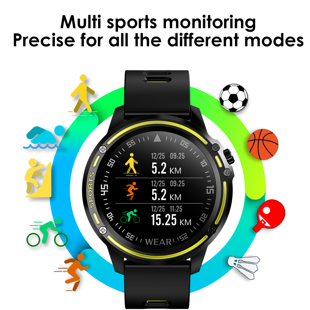 Heb276709e03f472795fecd19fad7739bn L8 Smart Watch Men Fitness Tracker Heart Rate Blood Pressure Monitoring Smart Bracelet Ip68 Waterproof Sports Smartwatch