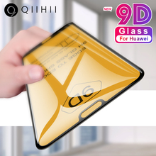 QIIHII 9D Tempered Glass For Huawei P20 Lite Glass P30 Lite P Smart 2019 Screen Protector