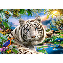 Nayachic 3d Diamond Mosaic Full Drill Diamond Embroidery Diy Diamond Painting Cross Stitch Kit Animal Tiger Pictures Of Pa959 nayachic full round drill 5d diy diamond painting animal tiger embroidery cross stitch 3d diamond pictures of mosaic decor