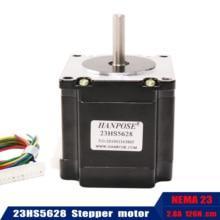Ücretsiz kargo Nema23 step Motor 4 lead 165 oz in 23HS5628 56mm 2.8A 57 serisi motor 3D yazıcı monitör ekipmanları