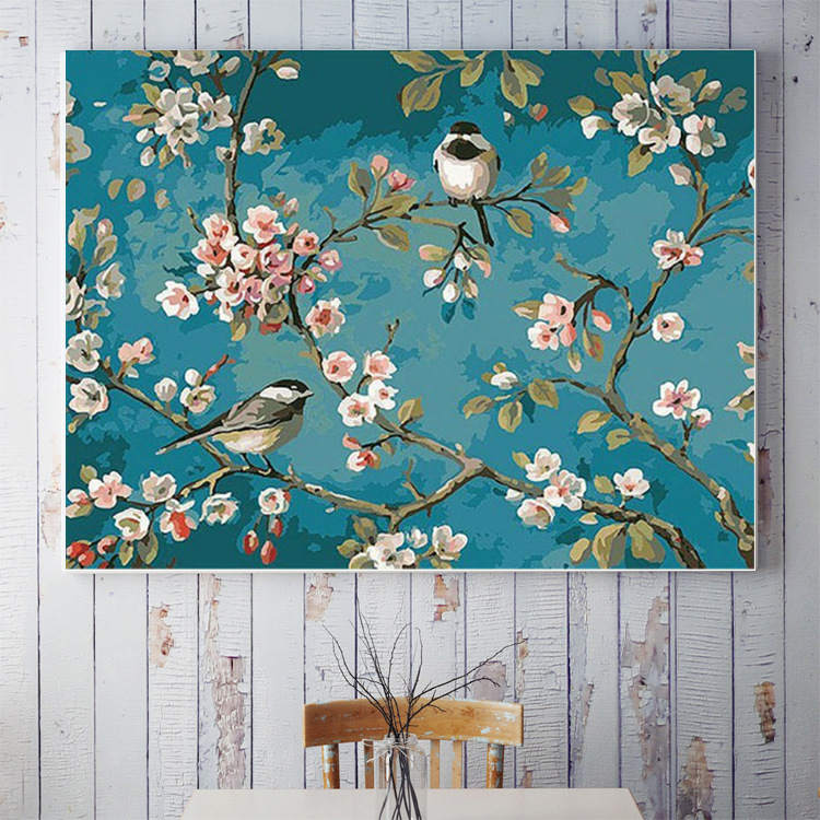 Flowers Paintings By Numbers DIY Pictures Oil Coloring By Numbers Set Gift Drawing By Numbers Canvas DIY New Arrivals