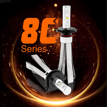 2PCS car light H7 LED H15 H4 Hi/Lo Headlamp kit 6000K White Bulbs Canbus No Error ZES Chip H1 H9 H11 HB4 headlight fog lamp 12V