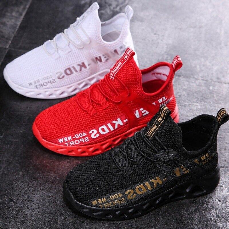 2021 yeni örgü çocuklar Sneakers hafif çocuk ayakkabıları rahat nefes erkek ayakkabı kaymaz kızlar Sneakers Zapatillas Size26-38