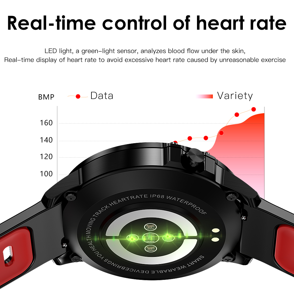 Heb282c1ad524449bbb6b1f5218ba73c1s L8 Smart Watch Men Fitness Tracker Heart Rate Blood Pressure Monitoring Smart Bracelet Ip68 Waterproof Sports Smartwatch