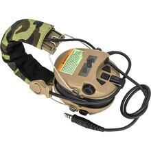 Táctico SMSR? Sordin auriculares camioneta auriculares con cancelación DE ruido Airsoft caza protección auditiva auriculares DE