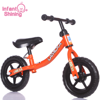 Infant Shining Pedal-less Kids Balance Bicycle Children Scooter Child Bike Walker 10in for 2~6 Years Old