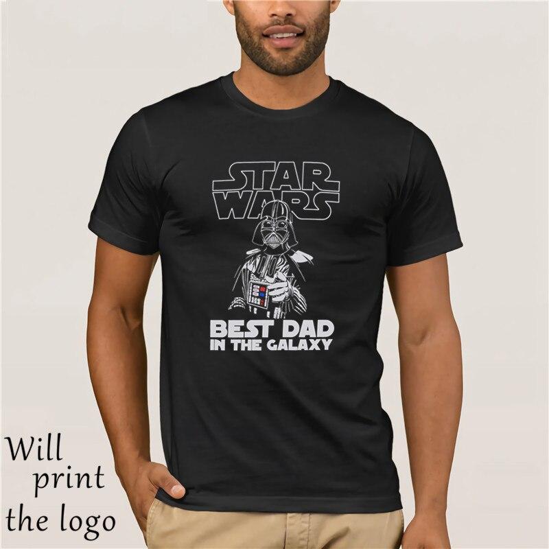 Men's Black Star Wars Best Dad In The Galaxy T-Shirt