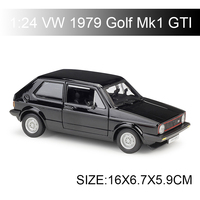 Maisto Bburago VW 1979 Golf Mk1 GTI Black Red Diecast Car Model Toy Vehicle Car Model Maisto Models Kids Car