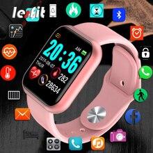 Lesfit Y68 Bluetooth Women Sport Smartwatch Men Waterproof Smart Watch