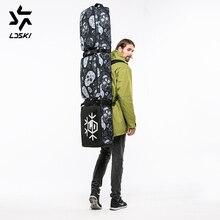 LDSKI Лыжная сумка сноуборд сумка на плечо шлем загрузки зимняя спортивная сумка DWR материал большой рюкзак сумка Мягкий светильник мешок веса
