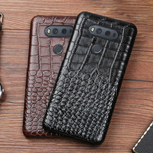 Phone Case For LG G6 G7 V10 V20 V30 V40 V50 ThinQ G3 G4 G5 G6 G7 G8s ThinQ K40 K50 Luxury Crcodile Texture Cowhide Back Cover цена 2017