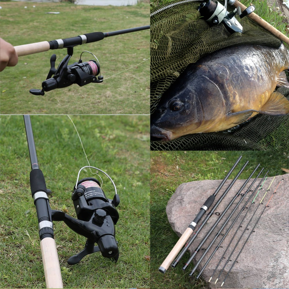 6 seções isca vara pesca equipamento pesca