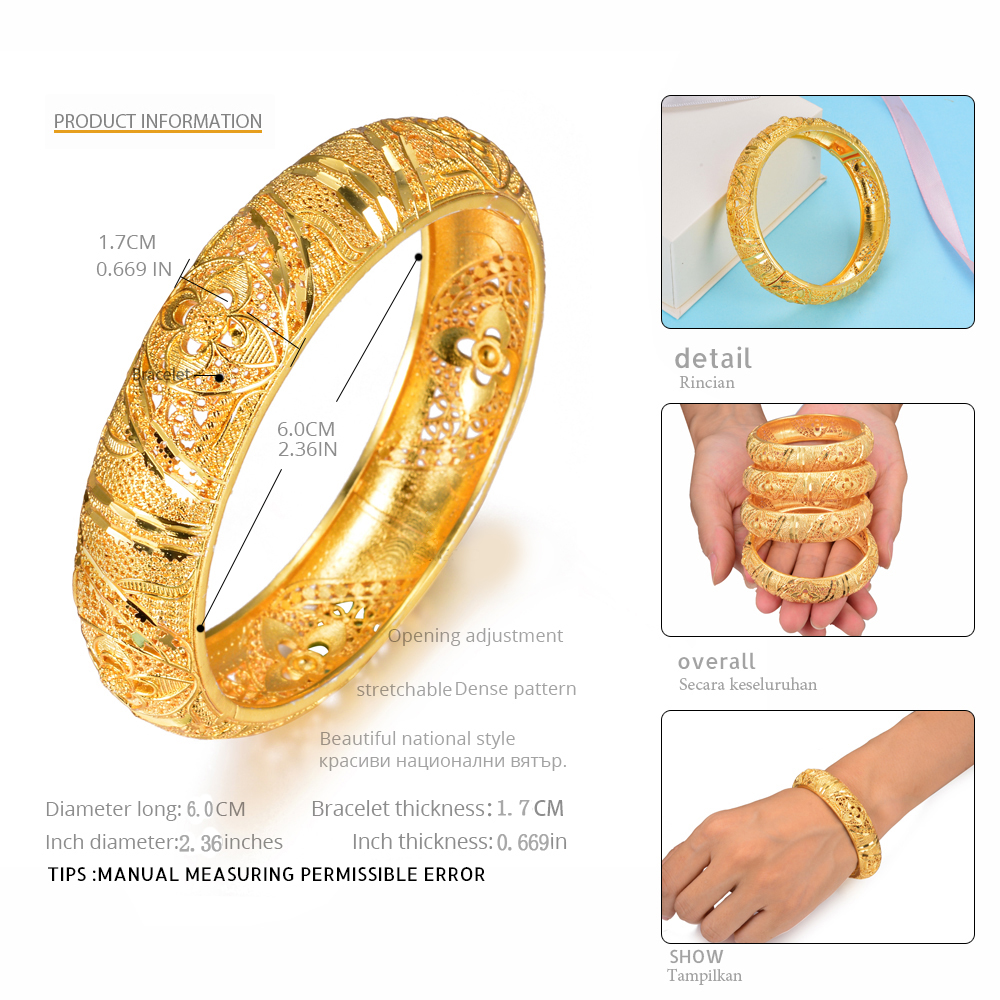 Wando-4Pcs-Wedding-Jewelry-Bracelets-For-Women-Girls-Bangles-Gold-Color-Arab-Ethiopian-jewelry-Bridal-Bangles