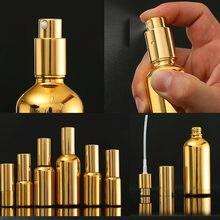 30Pcs 10-100Ml Galvaniseren Goud Glas Etherische Olie Flessen Cosmetische Serum Lotion Pomp Verstuiver Spray Fles Dropper fles