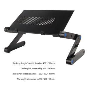 Image 5 - Zwei Fan Laptop Schreibtische Tragbare Faltbare Einstellbare Klapptisch Laptop Schreibtisch Stehen mesa para notebook Tisch Entlüftet Stand Bett