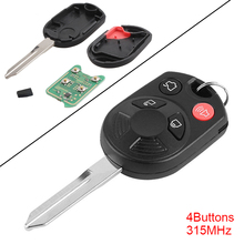 все цены на 315MHz 4 Buttons Keyless Uncut Flip Remote Key Fob with ID63 Chip 80 for Ford Edge Escape Focus Lincoln Mazda Mercury онлайн