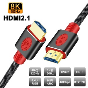 Image 1 - Shuliancable HDMI 2.1 Cable 8K@60Hz 4K@120Hz/60Hz ARC HDR  48Gbps HDCP2.2 For Splitter Switch PS4 TV Xbox Projector Computer
