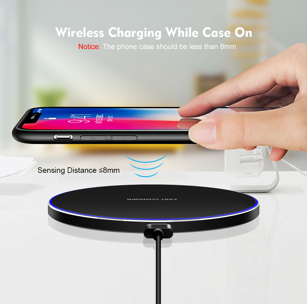 15W Qi Wireless Charger Pad For Iphone 11 Pro Max XR XS MAX Samsung S10 S9 Note 10 Huawei P30 Pro Fast Wireless Charging Station (7) - 副本
